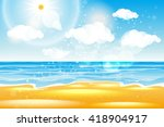 sea of karon beach thailand.... | Shutterstock .eps vector #418904917
