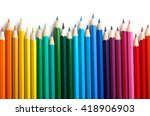 Color pencils isolated on white ...