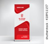 banner roll up design  business ... | Shutterstock .eps vector #418911157