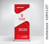 banner roll up design  business ...   Shutterstock .eps vector #418911157