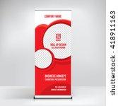 banner roll up design  business ...   Shutterstock .eps vector #418911163