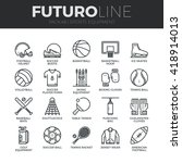 modern thin line icons set of... | Shutterstock .eps vector #418914013