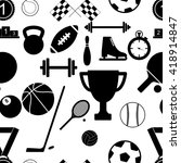 seamless pattern with sport... | Shutterstock .eps vector #418914847
