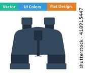 flat design icon of binoculars...