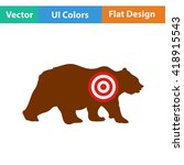 flat design icon of bear...