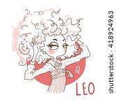 zodiac signs leo. vector... | Shutterstock .eps vector #418924963