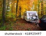 Caravan Trailer With Bicycle...