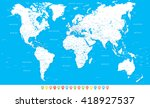 white world map and navigation... | Shutterstock .eps vector #418927537