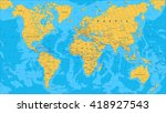 yellow blue world map   borders
