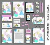 geometric trendy 80s retro...   Shutterstock .eps vector #418946353