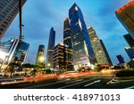 the road in the city of... | Shutterstock . vector #418971013