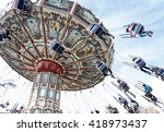 tilting  swinging  aerial chair ... | Shutterstock . vector #418973437