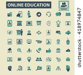 online education icons  | Shutterstock .eps vector #418974847