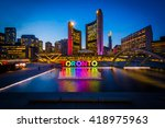 view of nathan phillips square... | Shutterstock . vector #418975963