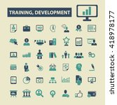 training development icons  | Shutterstock .eps vector #418978177