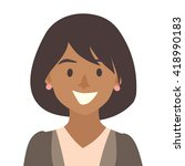black happy girls icon vector... | Shutterstock .eps vector #418990183