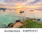 amazing sunrise and sunset in... | Shutterstock . vector #418991917