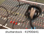 headphones on audio mixing... | Shutterstock . vector #41900641
