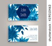 vector business card design... | Shutterstock .eps vector #419010463