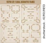 vector set of decorative hand... | Shutterstock .eps vector #419019853