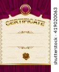 elegant template of diploma... | Shutterstock .eps vector #419020063