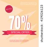 super sale shining banner on... | Shutterstock .eps vector #419026123