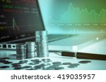economical stock market graph. | Shutterstock . vector #419035957