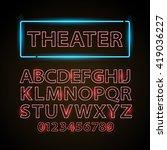 vector red neon lamp letters... | Shutterstock .eps vector #419036227