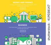 money and finance business... | Shutterstock .eps vector #419038147