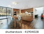 large kitchen in luxury home | Shutterstock . vector #41904028