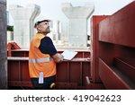 construction worker planning...   Shutterstock . vector #419042623