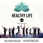 healthy life vitality physical... | Shutterstock . vector #419058253