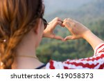 Heart Hand  Loving The Nature