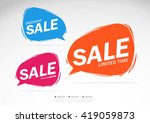 sale discount offer limited... | Shutterstock .eps vector #419059873
