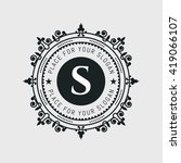 flourishes calligraphic... | Shutterstock .eps vector #419066107