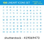different lineart interfece...   Shutterstock .eps vector #419069473