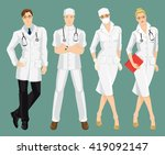 group of medical people on... | Shutterstock .eps vector #419092147