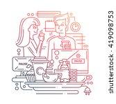 illustration of vector modern... | Shutterstock .eps vector #419098753