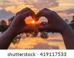 sun in the hands | Shutterstock . vector #419117533
