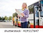 old senior woman tourist... | Shutterstock . vector #419117647