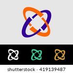 a social logo  rounder elements ... | Shutterstock .eps vector #419139487
