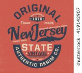 vintage style tee print design... | Shutterstock .eps vector #419142907