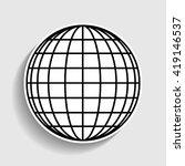 earth globe sign | Shutterstock . vector #419146537