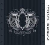 oval frame between flags ... | Shutterstock .eps vector #419152117