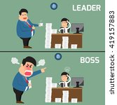 difference between boss and... | Shutterstock .eps vector #419157883