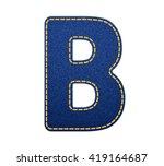 blue jean letter b | Shutterstock .eps vector #419164687