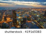 melbourne view from eureka... | Shutterstock . vector #419165383