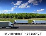 trucks on the road | Shutterstock . vector #419166427