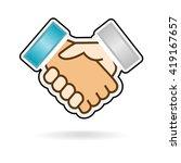 hand shake isolated vector image   Shutterstock .eps vector #419167657