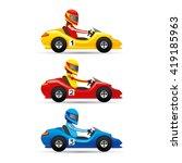 vector set. mini racing cars. | Shutterstock .eps vector #419185963